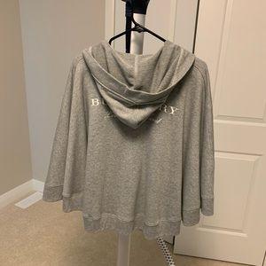 Burberry grey cotton cape